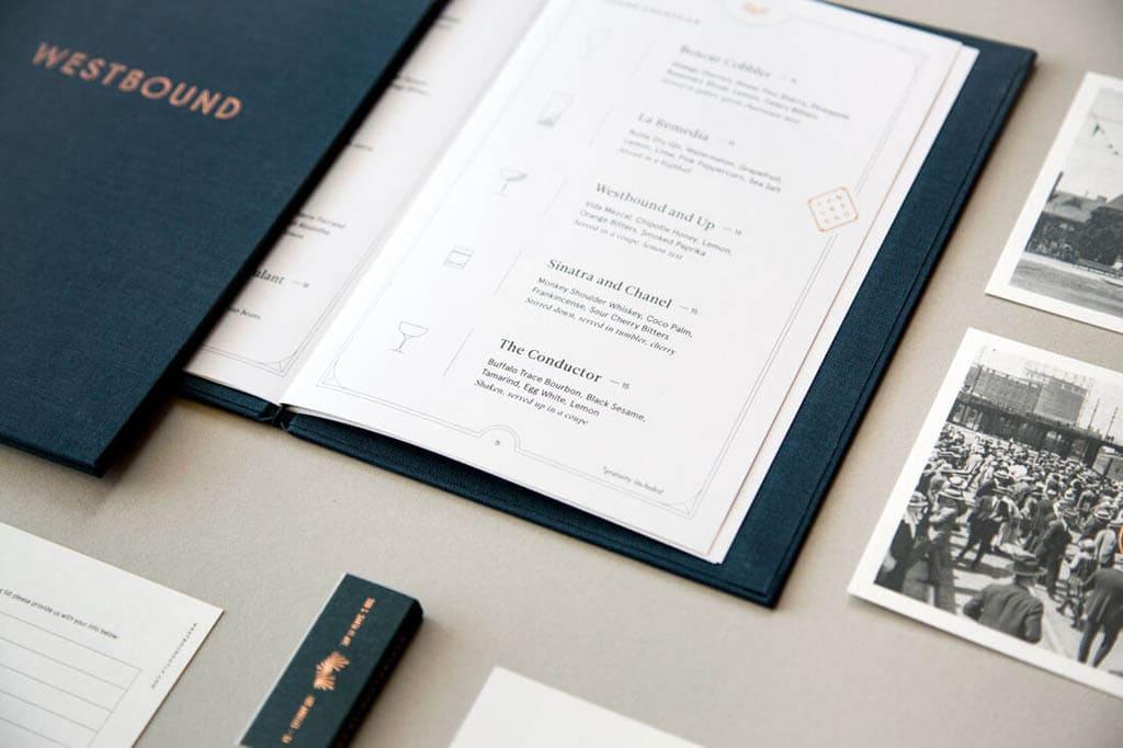 Westbound Restaurant - Menu Design by Project M+