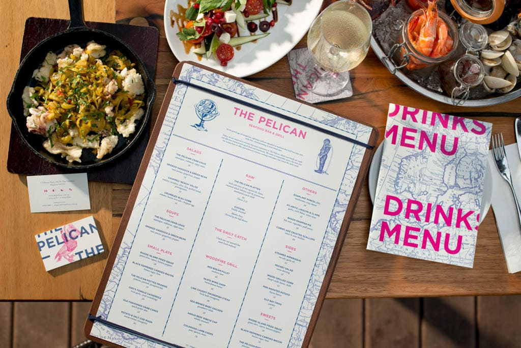 The Pelican Seafood Bar & Grill - Menu by Foreign Policy Design