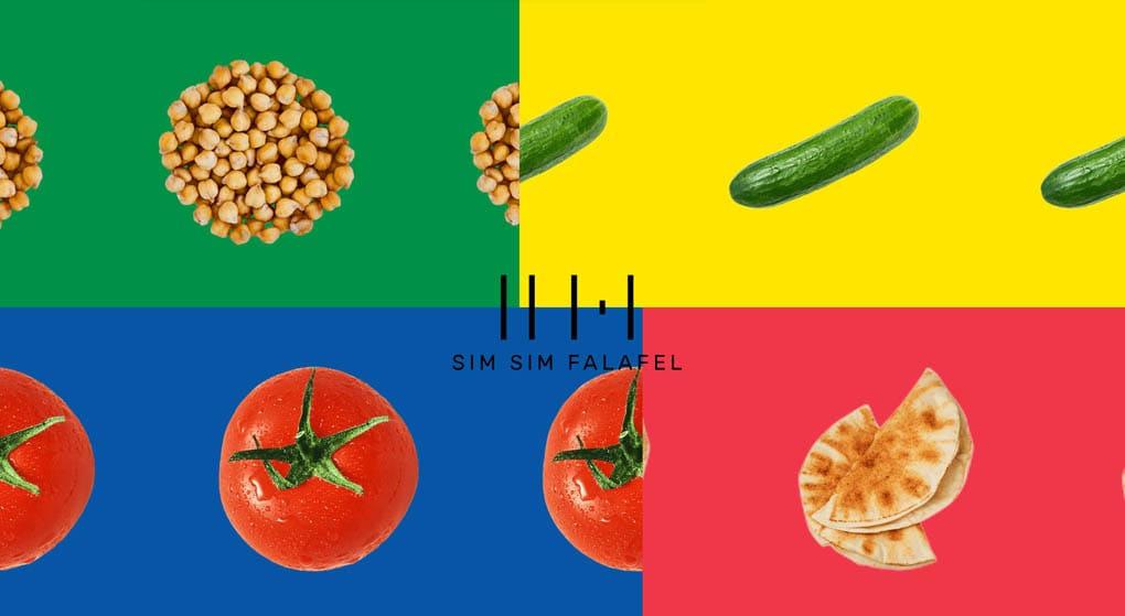 Sim Sim is a falafel shop in Munich. Restaurant Website Design