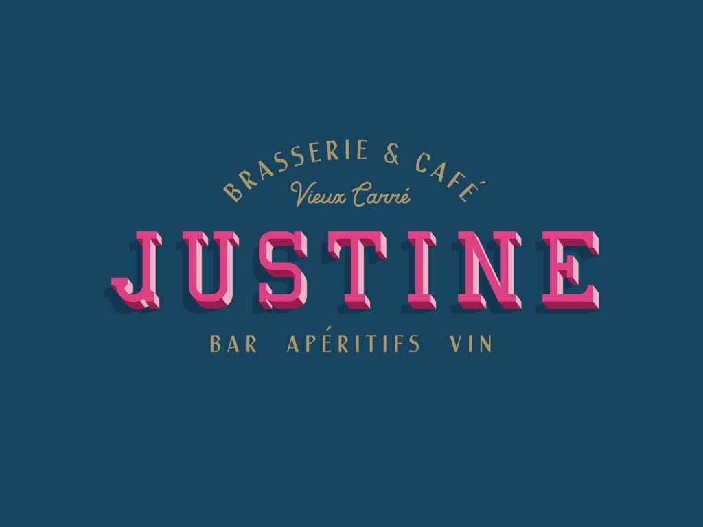 Justine Brasserie - Logo Design by The Made Shop