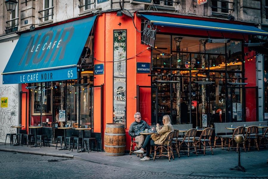 French café exterior